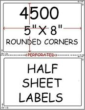 4500 HALF SHEET LABELS FOR PAYPAL SHIPPING ROUND CORNER