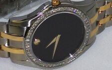New Men's Movado corporate T.T.0605975 0.80ct.apx.custom set real  Diamond Watch