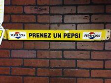 "Vintage Pepsi-Cola Push Bar - Door Push Sign ""Prenez Un Pepsi"""