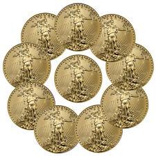 2017 $5 1/10 oz. American Gold Eagle - Lot of 10 Coins SKU44742