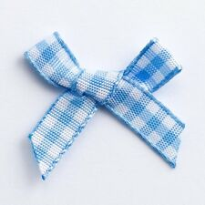 Miniature 3cm Pre Tied 6mm Gingham Ribbon Craft Bows