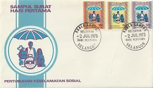 1973 Malaysia FDC cover Social Security Organisation