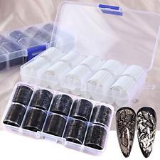 Nail Foil Transfer Stickers Lace Foils Sticker Black White Nail Art Supplies 20