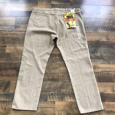 NEW Vintage Wrangler Mens Khaki Pants 46 x 32 Cowboy Cut Pro Rodeo Work 46/32