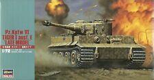 "Hasegawa 1/72 (20mm) Pz Kpfw VI Tiger I Ausf E ""Late"""