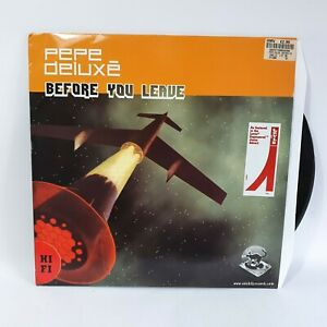 """Pepe Deluxé Before You Leave Vinyl 12"""" Record Cat Skills Levi Jeans 2001 VG+/VG+"""