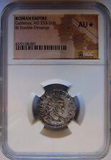 GALLIENUS Roman Empire 253-268 NGC AU Star Silver Double Denarius Ancient Coin