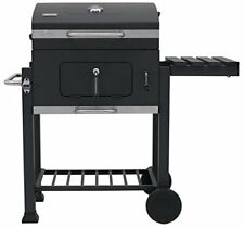 Toronto Charcoal BBQ Grill - Easy Click Together Design With Side Table and Grid