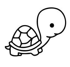 Turtle Cartoon Cute Animal Vinyl Die Cut Car Decal Sticker - FREE SHIPPING