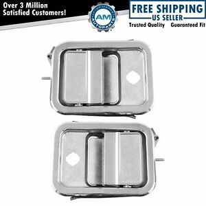 Outside Exterior Door Handle Chrome Pair LH & RH for Freightliner FLD 112 120
