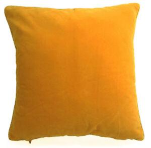 Mb74a Gold Yellow Plain Flat Velvet Style Cushion Cover/Pillow Case*Custom Size*