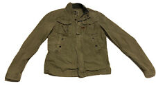 Preowned G-Star Raw Jacket Reco Army Green Faded Utility Coat Small Full Zip