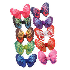 10 Pcs Cute Kids Girls Toddler Baby 3D Butterfly Hair Clip Grosgrain Hairpin