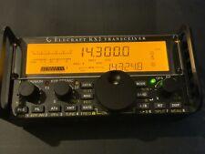 Elecraft Kx2 ham radio transceiver with anntena tuner, battery, Key, Case Mint!