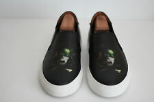Givenchy Army Skull Slip-On Leather Skate Sneaker - Black - Size 12US / 45 (Y93)