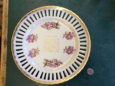 Vintage Gold Trim 8� Mother & Dad Lattice Wall Plate: Japan