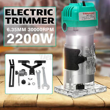 2200W Electric Hand Trimmer Palm Router Laminate Wood Laminator Joiner Cutter