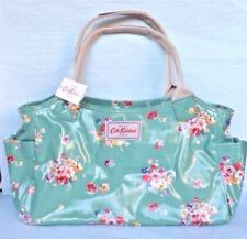 Cath Kidston Green Flowers Oilcloth Handbag Day Bag Post