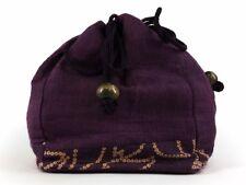 Vintage Japanese Cotton Kinchaku Draw-String Bag for use with Kimono: Aug17C