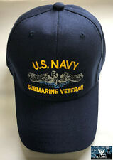 US Navy Submarine Service Veteran Ball Cap Dolphins Sub Force Vet Hat BLUE