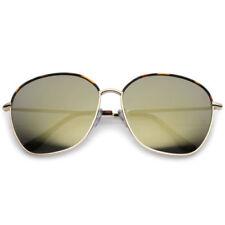Gafas de sol de mujer cuadradas de oro de metal