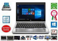 COMPUTER PORTATILE HP 8460P INTEL CORE i 5 2520M WEBCAM 240 GB SSD WINDOWS 10
