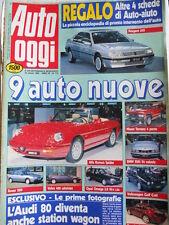 Auto OGGI n°172 1990 Alfa Romeo 33 SW Citroen BX 16 RS Opel Kadett GL 1.4 [Q201]