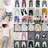 Kids Baby Animal Pattern Harem Pants Toddler Boys Girls Bottom Trousers Leggings