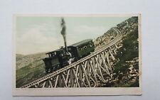 Antique Train RAILWAY JACOBS LADDER TRESTLE MT WASHINGTON New Hampshire NH Photo