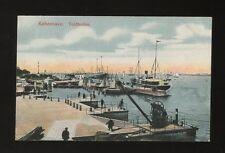 Denmark KOBENHAVN Copenhagen Toldboden Harbour Boats c1910/20s? PPC