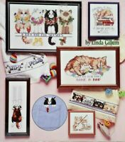 "1992 Counted Cross Stitch Pattern Book ""Cat Purr-sonalities"" 15 Designs 6503F"