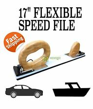 "FLEXIBLE PLASTIC HAND SPEED FILE BLOCK SANDING 17"" PANEL AUTO SPRAY SPEEDFILE"
