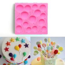 Silicone Balloon Fondant Cake Sugarcraft Chocolate Decorating Mold Baking Form~