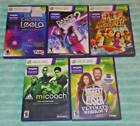 Dance Deepak MiCoach Loser Adventures XBOX 360 5 Game Lot Requires Kinect Sensor