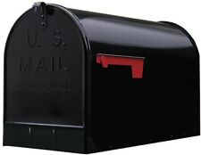 GIBRALTAR JUMBO POST MOUNT MAILBOX Extra Large Unit Mail Galvanized Black Steel