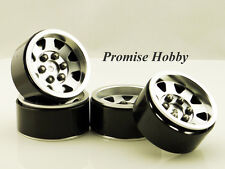 8 spoke heavy duty beadlock alloy 1.9 wheel rim set (4pcs) for 1:10 rc crawlers