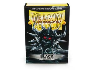 Dragon Shield Black Classic 60ct Standard Sized Sleeves NEW