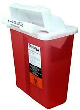 Oakridge 5 Quart Sharps Disposal Container With Mailbox Style Lid
