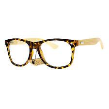 SA106 Bamboo Wood Arm Hipster Horn Rim Eco Eye Glasses