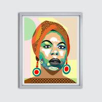 Art Nina Simone Poster Soul R B Folk Blues Jazz Painting Wall Decor Music Print