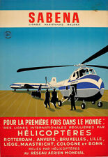 Art Print  Sabena Helicopter International Flights Airline Plane poster