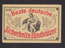 Ancienne  étiquette   allumettes Allemagne    BN44567 Homme