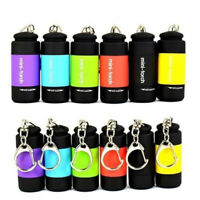 USB Rechargeable LED Light Flashlight Lamp Mini Pocket Keychain Torch Waterproof