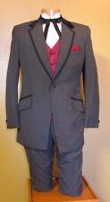 42L Grey Tuxedo Jacket Formal Steampunk Cosplay Western Vintage Theater 81I