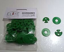 30 Elite Greenhouse Plastic Lining Hooks - Cropped Heads - attach bubble or net