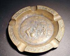 Antique Vintage decorative Brass Ashtray Ash Tray 20cm diameter