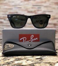 80e3ae9c5386b Ray-Ban Wayfarer Sunglasses RB2140 901S 54mm Matte Black Frame G-15 Green