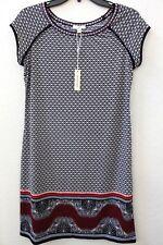 Max Studio Women's Print Cap Sleeve Swing Dress Size S Black & Red