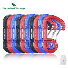 Aluminum Carabiners D Type Hook Clip Keychain Backpack Buckle Wiregate Clips