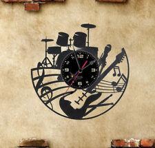 Orologio disco vinil clock orologio da parete  chitarra basso batteria